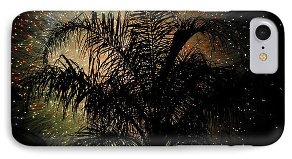 Palm Tree Fireworks IPhone Case by David Lee Thompson