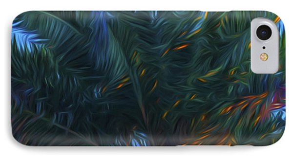 Palm Tree In The Sun IPhone Case by Glenn Gemmell