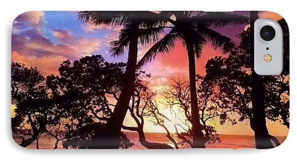 Palm Tree Silhouette IPhone Case by Kristine Merc