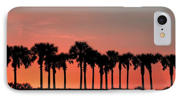 IPhone Case featuring the photograph Palm Tree Sunset by Joel Witmeyer