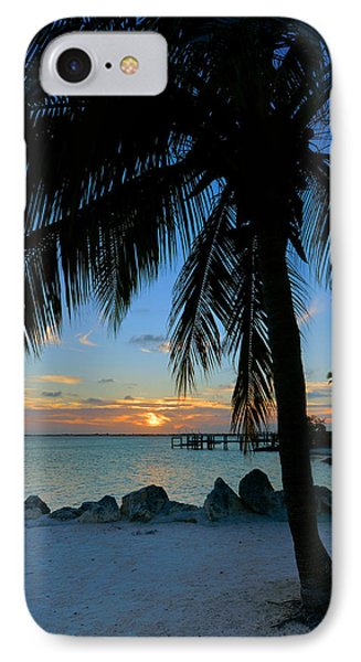 IPhone Case featuring the photograph Palm Tree Sunset by Stephen  Vecchiotti