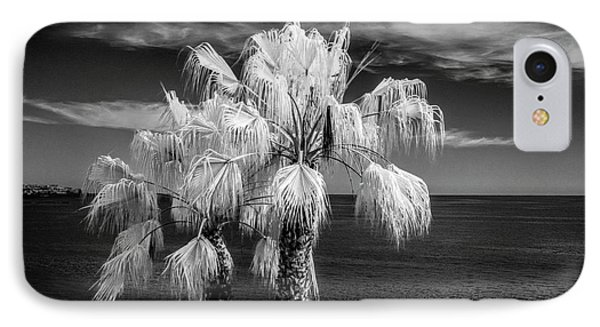 IPhone Case featuring the photograph Palm Trees At Laguna Beach In Infrared Black And White by Randall Nyhof