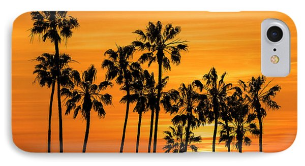 IPhone Case featuring the photograph Palm Trees At Sunset By Cabrillo Beach by Randall Nyhof