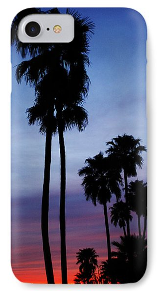 Palm Trees At Sunset Phone Case by Jill Reger
