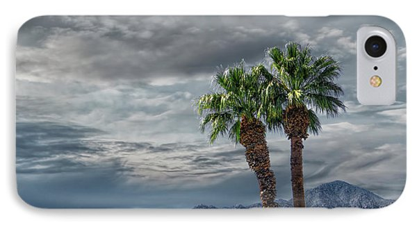 IPhone Case featuring the photograph Palm Trees By Borrego Springs In The Anza-borrego Desert State Park by Randall Nyhof