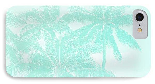 Palm Trees Hawaii Tropical Cyan IPhone Case
