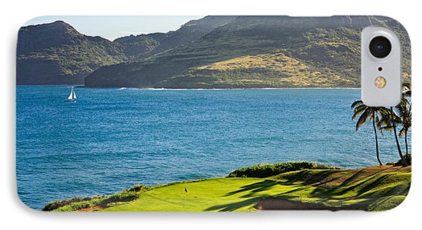 Palm Trees In A Golf Course, Kauai IPhone Case by Panoramic Images