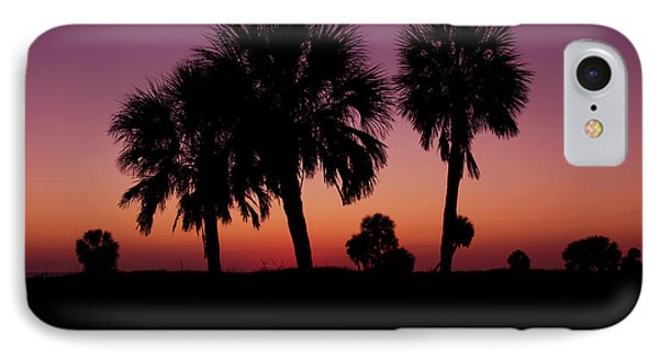 IPhone Case featuring the photograph Palm Trees Silhouette by Joel Witmeyer