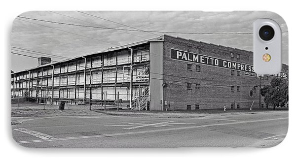 Palmetto Compress Warehouse Bw IPhone Case