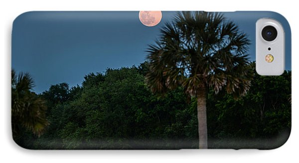 IPhone Case featuring the photograph Palmetto Full Moon by RC Pics