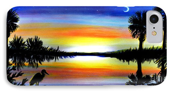 Palmetto Moon Low Country Sunset II IPhone Case by Patricia L Davidson