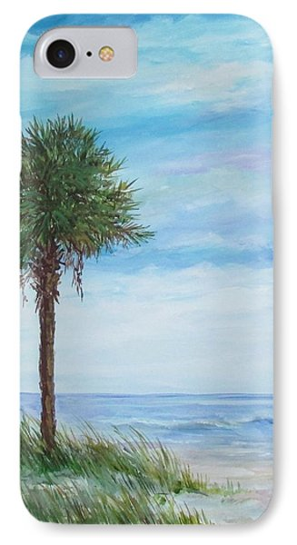 Sold  Palmetto On The Beach IPhone Case by Gloria Turner