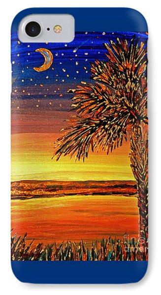 Palmetto Sunset  IPhone Case by Patricia L Davidson