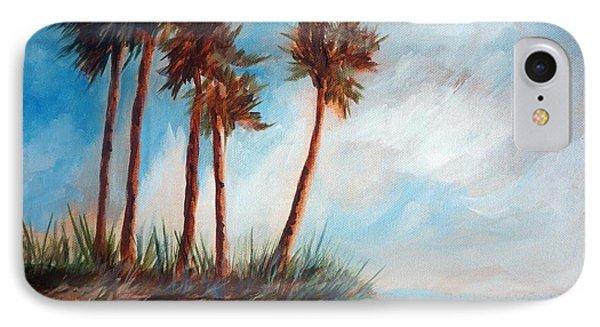 Palmettos On A Beach IPhone Case