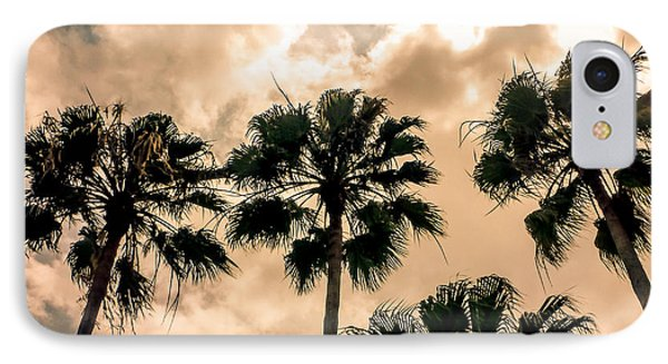 Palms Against The Sky IPhone Case by Frank Mari
