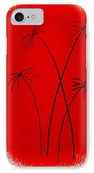 IPhone Case featuring the painting Palms And Sunset by Roberto Prusso