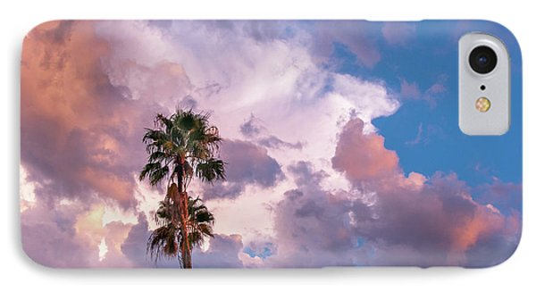 Palms At Sunset IPhone Case by Carolyn Dalessandro