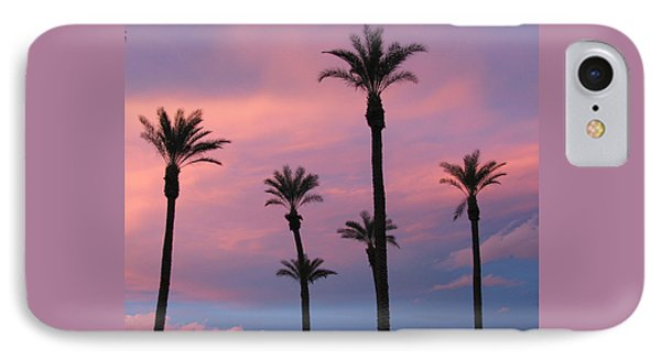 IPhone Case featuring the photograph Palms At Sunset by Phyllis Kaltenbach