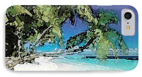 Palms Of The Destin Beach IPhone Case by Deb Jazi Raulerson