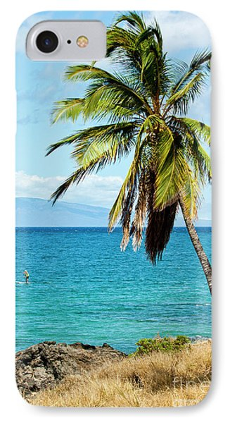Palms On Hawaiian Beach 12 IPhone Case by Micah May