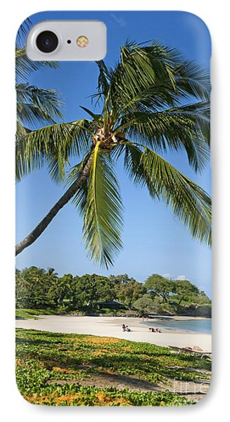 Palms Over Beach Phone Case by Ron Dahlquist - Printscapes
