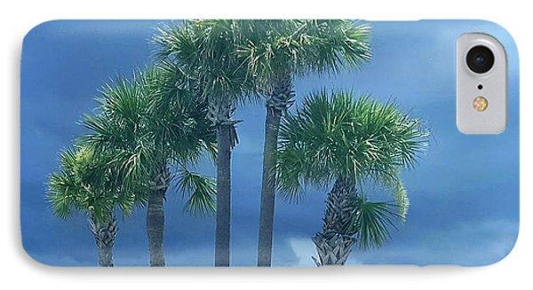 Palmy Skies IPhone Case by Rachel Hannah