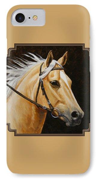 Palomino Horse Portrait IPhone Case