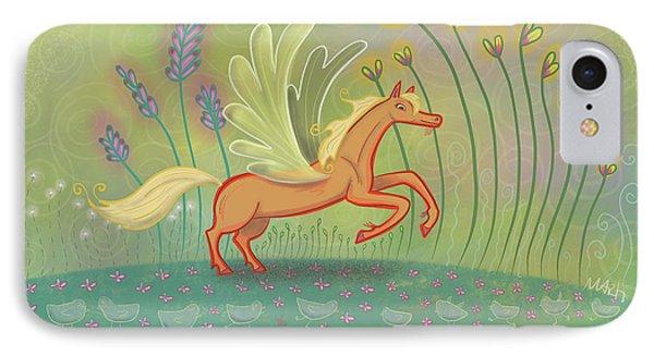 IPhone Case featuring the digital art Palomino Pegasus by Marti McGinnis