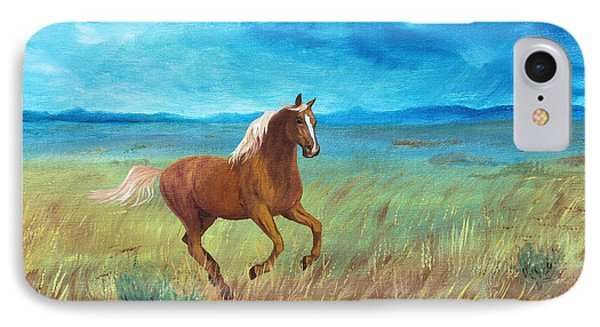 IPhone Case featuring the painting Palomino Storm by Jan Amiss