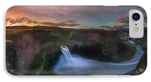 IPhone Case featuring the photograph Palouse Falls Sunrise by William Lee