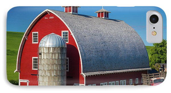 Palouse Red Barn IPhone Case by Inge Johnsson