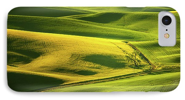 IPhone Case featuring the photograph Palouse Shades Of Green by Dan Mihai