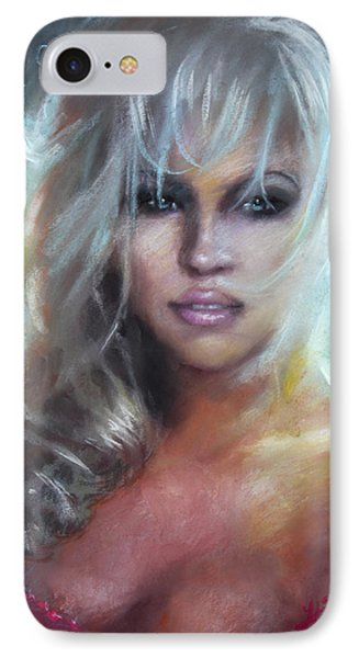 Pamela Anderson IPhone Case by Ylli Haruni