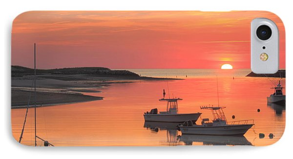 Pamet Harbor Cape Cod Truro Sunset IPhone Case by John Burk