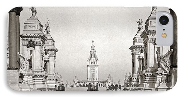 IPhone Case featuring the photograph Pan Am Tower Approach 1901 by Martin Konopacki Restoration