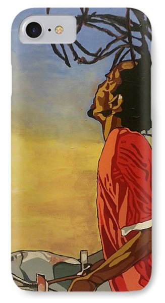 IPhone Case featuring the painting Pan Rising by Rachel Natalie Rawlins