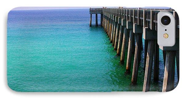 Panama City Beach Pier Phone Case by Toni Hopper