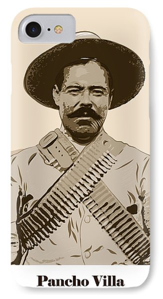 IPhone Case featuring the digital art Pancho Villa by Antonio Romero