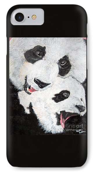 Panda And Baby IPhone Case