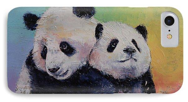 Panda Hugs IPhone Case