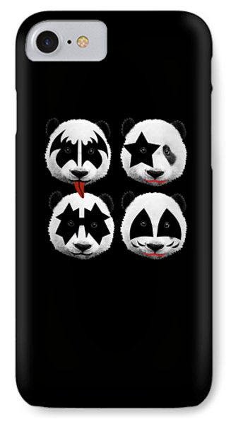 Panda Kiss  IPhone Case by Mark Ashkenazi
