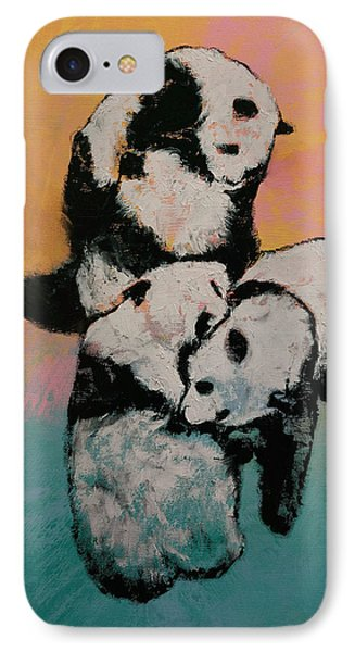 Panda Street Fight IPhone Case by Michael Creese