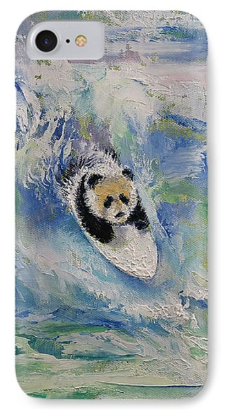 Panda Surfer IPhone Case by Michael Creese