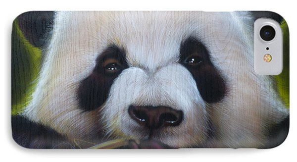 Panda IPhone Case by Timothy Scoggins