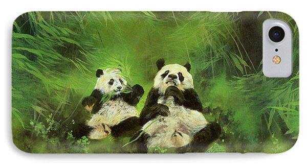 Pandas  Phone Case by Odile Kidd