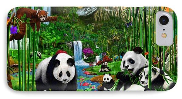 Panda's Paradise IPhone Case
