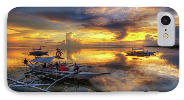 IPhone Case featuring the photograph Panglao Port Sunset 10.0 by Yhun Suarez