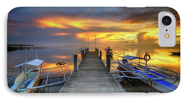 IPhone Case featuring the photograph Panglao Port Sunset 8.0 by Yhun Suarez