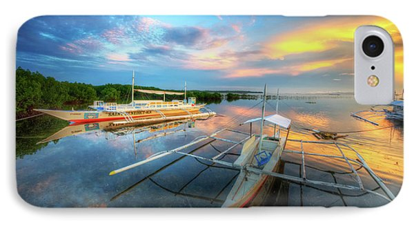 IPhone Case featuring the photograph Panglao Port Sunset 9.0 by Yhun Suarez