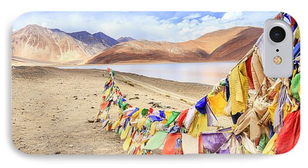 IPhone Case featuring the photograph Pangong Tso Lkae by Alexey Stiop